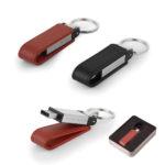 7282-8GB 8 GB Deri Metal Anahtarlık USB Bellek